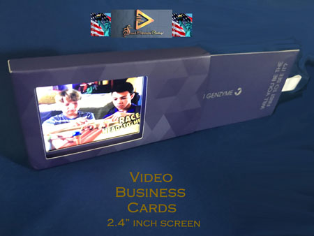 Custom Video Business Cards